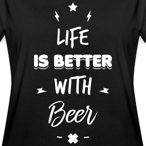 life is better with beer - Oversize-T-shirt dam