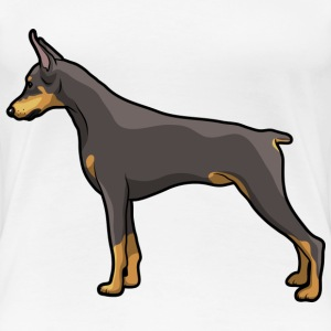 Doberman Dog - Women's Premium T-Shirt