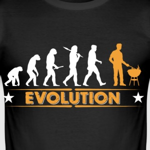 Barbecue - Grillmeister - Evolution T-Shirts - Männer Slim Fit T-Shirt