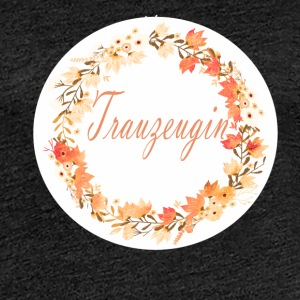 (trauzeugin_wreath_flower_power_orange) T-Shirts - Frauen Premium T-Shirt