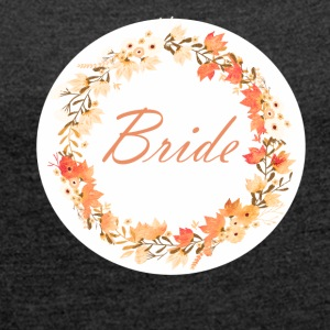 bride_wreath_flower_power_orange T-Shirts - Women's T-shirt with rolled up sleeves