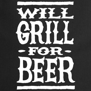 Will grill for beer Tabliers - Tablier de cuisine