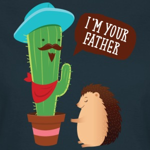 I'm Your Father | Cactus Hedgehog Illustration T-shirts - Dame-T-shirt