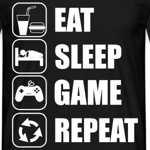 Eat,sleep,game,repeat,geek,gamer,nerd - Men's T-Shirt