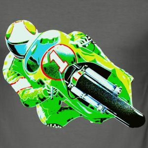 Green Motorcycle - Männer Slim Fit T-Shirt
