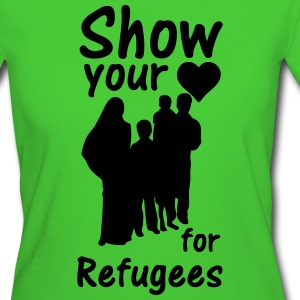 Heart for Refugees  - Frauen Bio-T-Shirt