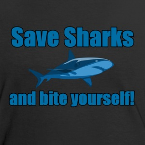 Save Sharks! - Women's Ringer T-Shirt
