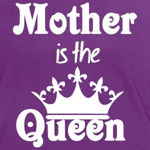 Mother is the Queen - Frauen Kontrast-T-Shirt