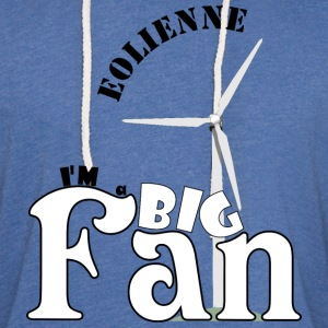 éolienne, big fan - Sweat-shirt à capuche léger unisexe