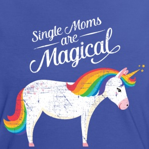 Single Moms Are Magical | Unicorn T-Shirts - Frauen Kontrast-T-Shirt