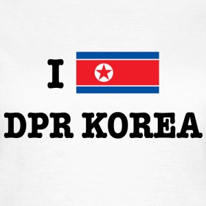 I Love North Korea T-skjorter - T-skjorte for kvinner