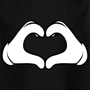 Comic Heart Hand | Great Gift For People You Love T-Shirts - Teenager T-Shirt