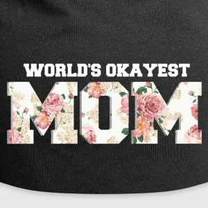 World's Okayest Mom Caps & luer - Jersey-beanie