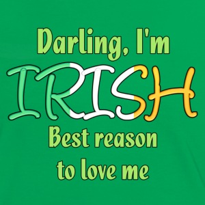 Irish - Reason to love me - Women's Ringer T-Shirt