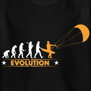 Kitesurfen - Evolution T-Shirts - Teenager T-Shirt