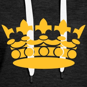 Crown Winner King Queen Princess Sudaderas - Sudadera con capucha premium para mujer
