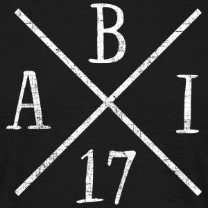 Abi 2017 Cross | Grunge Distressed Style Design T-Shirts - Männer T-Shirt