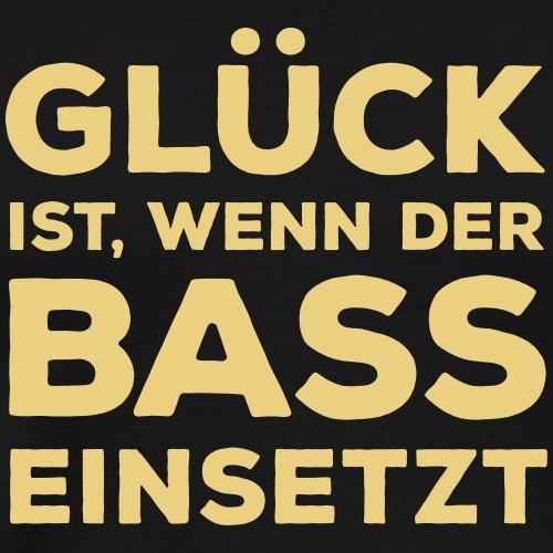 Glück ist, wenn der Bass einsetzt. Musik Rocker
