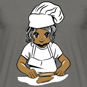 Cooking girl baking T-Shirts - Men's T-Shirt