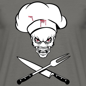 cooking grappige horror mes vork T-shirts - Mannen T-shirt