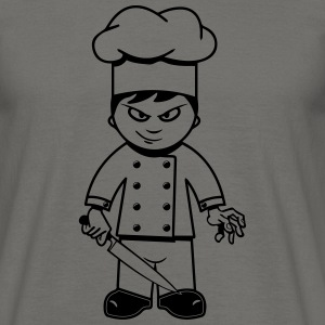 Cooking cook funny horror knife T-Shirts - Men's T-Shirt
