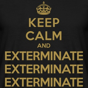 Keep calm and exterminate (Doctor Who) Koszulki - Koszulka męska