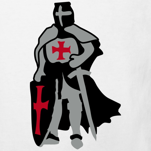 templar knight by Patjila T-shirts Enfants - T-shirt Bio Enfant
