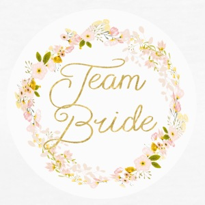 team_bride_big_wreath T-shirts - Vrouwen Bio-T-shirt