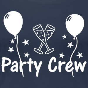 Party Crew Ballon Champagne  T-Shirts - Women's Premium T-Shirt