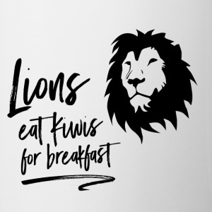 Lions eat Kiwis for breakfast - Mug - Mug