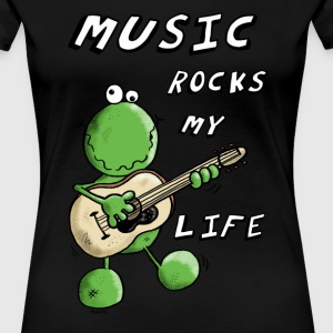 Music Rocks My Life T-Shirts - Frauen Premium T-Shirt