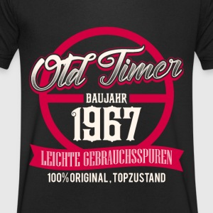 1967 birthday - old timer - DE T-Shirts - Men's V-Neck T-Shirt