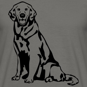 Chien golden retriever Tee shirts - T-shirt Homme