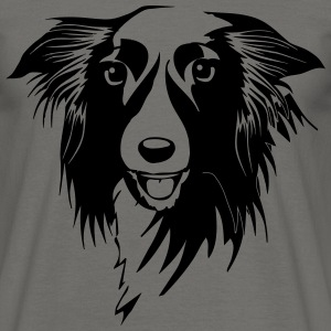 Dog hundras Border Collie T-shirts - T-shirt herr