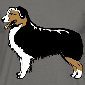 Dog Australian Shepherd black T-Shirts - Men's T-Shirt