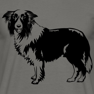 Hund Border-Collie Tee shirts - T-shirt Homme