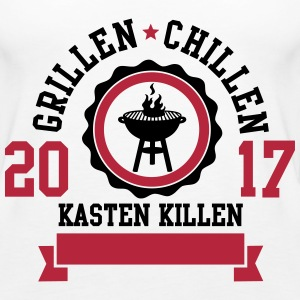 Grillen Chillen Kasten killen 2017 Tops - Frauen Premium Tank Top