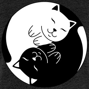 Cat Ying Yang | Cute Illustration  T-Shirts - Frauen Premium T-Shirt