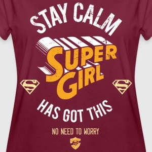 Supergirl Stay Calm - Frauen Oversize T-Shirt