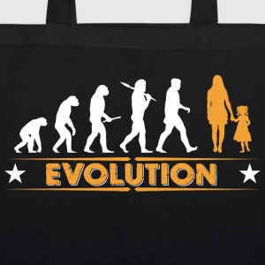 Mother and daughter - evolution - orange/white Bags & Backpacks - EarthPositive Tote Bag