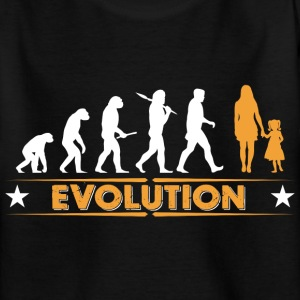 Mother and daughter - evolution - orange/white Shirts - Teenage T-shirt