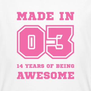 14th birthday born in 2003 College style T-Shirts - Men's Organic T-shirt