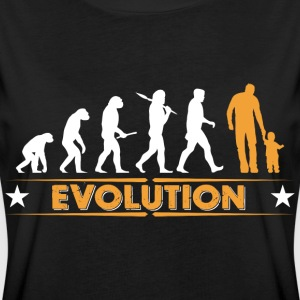 Far og søn - evolution - orange/hvid T-shirts - Dame oversize T-shirt