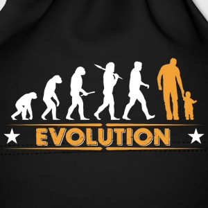 Father and son - evolution - orange/white Baby Cap - Baby Cap