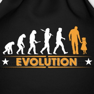 Father and daughter - evolution - orange/white Baby Cap - Baby Cap