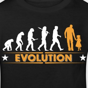 Father and daughter - evolution - orange/white Shirts - Kids' Organic T-shirt