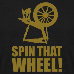Zwart Spin that wheel! T-shirts - Mannen T-shirt