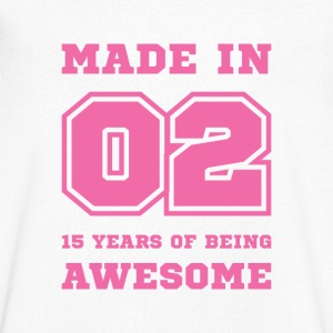 15th birthday born in 2002 College style T-Shirts - Men's V-Neck T-Shirt