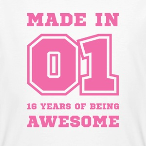 16th birthday born in 2001 College style T-Shirts - Men's Organic T-shirt