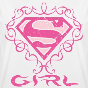 DC Comics Superman Logo Tatouage Girl - T-shirt oversize Femme
